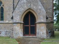Glazed church doors, Nash, Buckinghamshire
